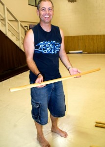 Jeff with his new bokken