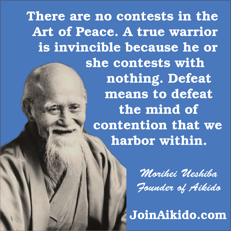 No Contests in the Art of Peace